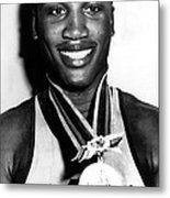 Joe Frazier Holding Olympic Heavyweight Metal Print by Everett