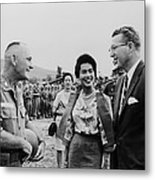 King Bhumibol And Queen Sirikit Metal Print by Everett