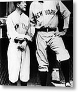 Miller Huggins, And Babe Ruth, Circa Metal Print by Everett