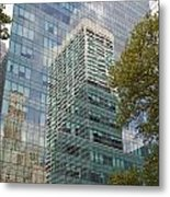 Nyc Reflection 1 Metal Print by Art Ferrier