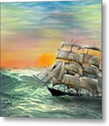 Open Seas Metal Print by Diane Haas