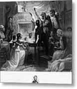 Reading Emancipation Proclamation Metal Print by Photo Researchers