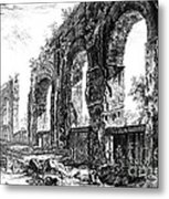 Ruins Of Roman Aqueduct, 18th Century Metal Print by Photo Researchers