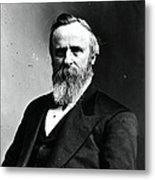 Rutherford B. Hayes, 19th American Metal Print by Photo Researchers