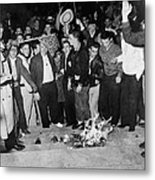 Segregationist Protest. White Students Metal Print by Everett