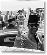Sukarno, President Of Indonesia Metal Print by Everett