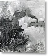 The Sinking Of The Cumberland, 1862 Metal Print by Photo Researchers