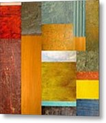Color Panels With Blue Sky Metal Print by Michelle Calkins