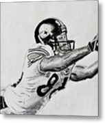 Hines Ward Diving Catch  Metal Print by Bryant Luchs