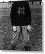 Knute Rockne, University Of Notre Dame Metal Print by Everett