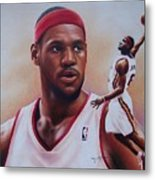 Lebron James Metal Print by Cory McKee