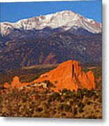 Pike's Peak And Garden Of The Gods Metal Print by Jon Holiday