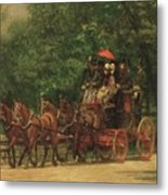 The Fairman Rogers Coach And Four Metal Print by Thomas Cowperthwait Eakins