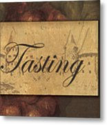 Wine Tasting Collage  Metal Print by Grace Pullen