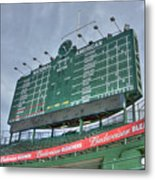 Wrigley Scoreboard Metal Print by David Bearden