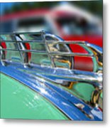 1949 Plymouth Hood Ornament Metal Print by Larry Keahey