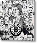 1988 Boston Bruins Newspaper Poster Metal Print by Dave Olsen