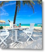 Dinner On The Beach Metal Print by MotHaiBaPhoto Prints