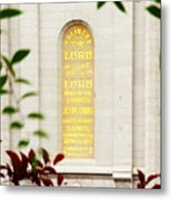 Holiness To The Lord Metal Print by La Rae  Roberts