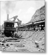 Panama Canal - Construction - C 1910 Metal Print by International  Images