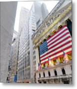 The Facade Of The New York Stock Metal Print by Justin Guariglia