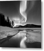 Aurora Borealis Over Sandvannet Lake Metal Print by Arild Heitmann