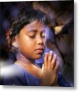 A Child's Prayer Metal Print by Bob Salo
