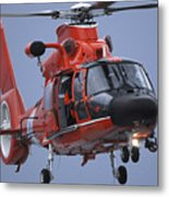 A Coast Guard Mh-65 Dolphin Helicopter Metal Print by Stocktrek Images