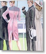 A Day At The Races Metal Print by Arline Wagner