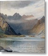 A Loch North Of Hadrian's Wall Metal Print by Walter Severn