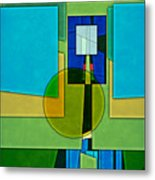 Abstract Shapes Color Two Metal Print by Gary Grayson