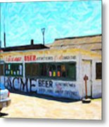 Acme Beer At The Old Lunch Shack At China Camp Metal Print by Wingsdomain Art and Photography