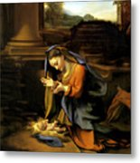 Adoration Of The Child Metal Print by Correggio