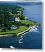 Aerial Of The Breakers, A Mansion Built Metal Print by Ira Block