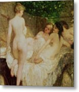 After The Bath Metal Print by Karoly Lotz