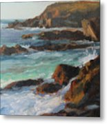 Afternoon Light Point Lobos Metal Print by Anna Rose Bain