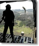 Airman Watches A Practice Bundle Fall Metal Print by Stocktrek Images