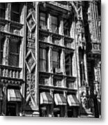 Alwyn Court Building Detail 14 Metal Print by Val Black Russian Tourchin