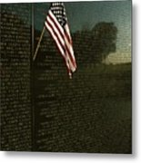 American Flag Left At The Vietnam Metal Print by Medford Taylor