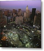 An Aerial View Of Ground Zero Metal Print by Ira Block