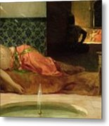 An Odalisque In A Harem Metal Print by Benjamin Constant
