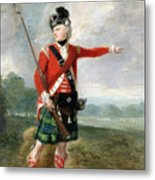 An Officer Of The Light Company Of The 73rd Highlanders Metal Print by Scottish School