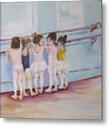 At The Barre Metal Print by Julie Todd-Cundiff