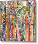 Autumn Bamboo Metal Print by Marionette Taboniar