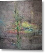 Awakening Abstract 1 Black Background Bright Detail Metal Print by Lizzy Forrester