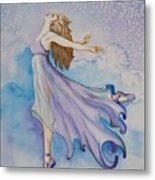 Ballerina Performs Metal Print by Joyce Hutchinson