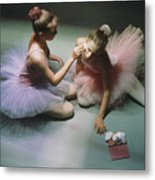 Ballerinas Get Ready For A Performance Metal Print by Richard Nowitz