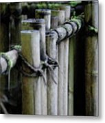 Bamboo Fence Metal Print by Samantha Kimble