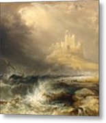 Bamborough Castle Metal Print by Willliam Andrews Nesfield