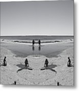Beach Fun Metal Print by Betsy C Knapp